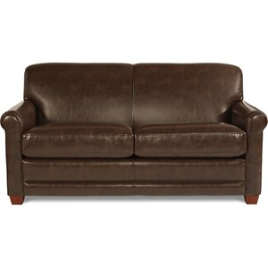 La Z Boy Amanda Casual Sleeper Sofa with Premier fortCore Seat Cushions and Supreme fort