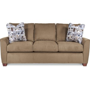 Casual Supreme Comfort Queen Sleeper Sofa with Premier ComfortCore Cushions