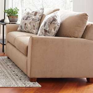 Casual Loveseat with Premier ComfortCore Cushions