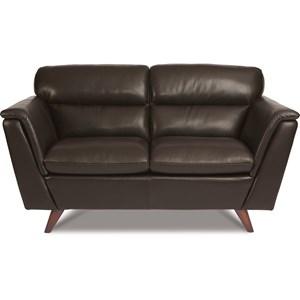 Mid Century Modern Leather Loveseat