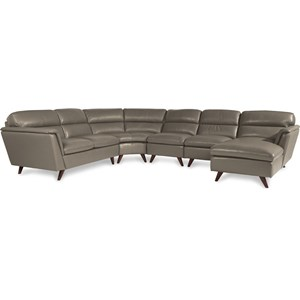 5 Pc Sectional Sofa with Left Arm Sitting Chaise