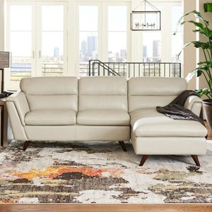 Two Piece Chaise Sofa with Left Arm Sitting Chaise