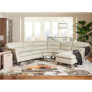 4 Pc Sectional Sofa with Left Arm Sitting Chaise