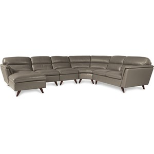 5 Pc Sectional Sofa with Right Arm Sitting Chaise