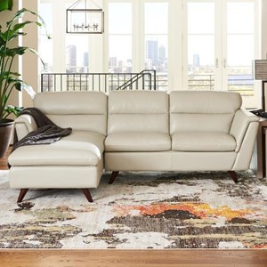 Two Piece Chaise Sofa with Right Arm Sitting Chaise