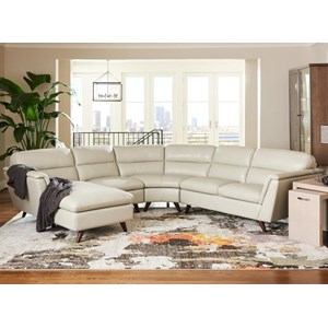 4 Pc Sectional Sofa with Right Arm Sitting Chaise