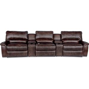 Five Piece Reclining Home Theather Group