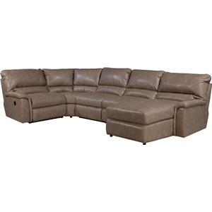 La-Z-Boy ASPEN 5 Pc Reclining Sectional Sofa w/ LAS Chaise