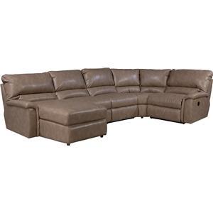 La-Z-Boy ASPEN 5 Pc Reclining Sectional Sofa w/ RAS Chaise