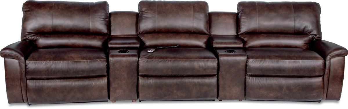 ASPEN 5 Pc Power Reclining Home Theater Group by La-Z-Boy at Fisher Home Furnishings