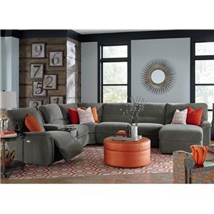 La-Z-Boy ASPEN 7 Pc Reclining Sectional Sofa w/ Cupholders