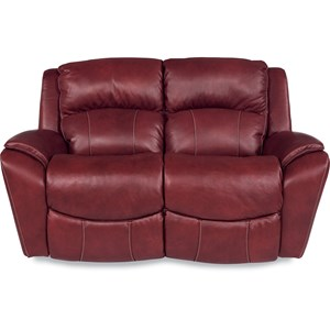 Casual Power La-Z-Time® Full Reclining Loveseat with Pillow Arms