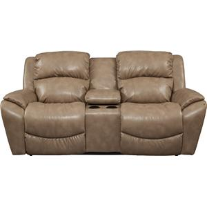 Casual La-Z-Time® Full Reclining Loveseat with Storage Console