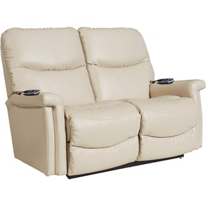 Casual Power Wall Saver Reclining Loveseat with Power Adjustable Headrest and Lumbar