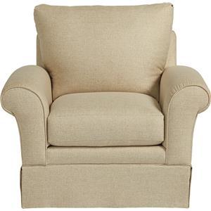 Casual La-Z-Boy® Chair with Kick Pleat Skirt