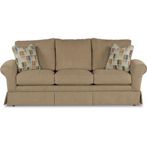 Casual La-Z-Boy® Queen Sofa Sleeper with Kick Pleat Skirt