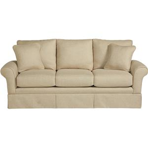 Casual La-Z-Boy® Sofa with Kick Pleat Skirt