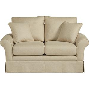 Casual La-Z-Boy® Love Seat with Kick Pleat Skirt
