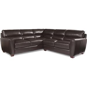 Two Piece Contemporary Leather Sectional Sofa