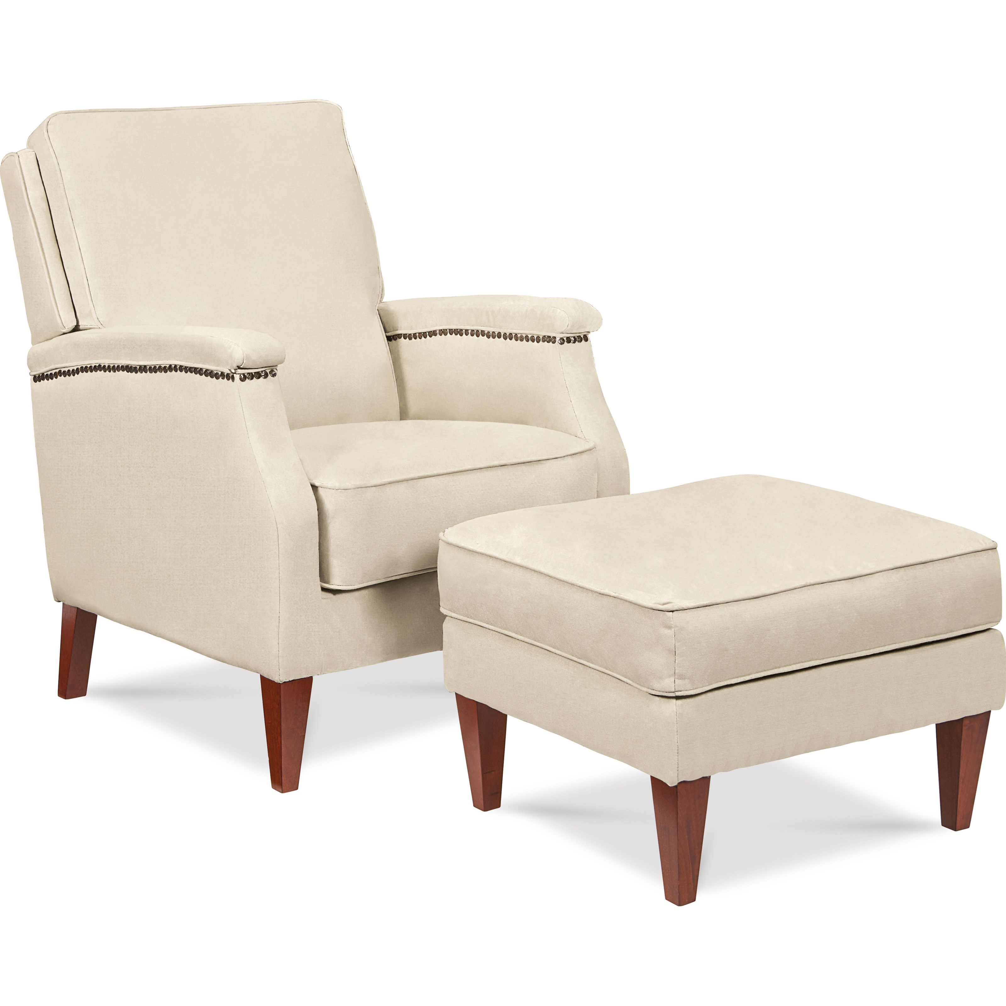 Cambridge Press Back Recliner & Ottoman by La-Z-Boy at Bullard Furniture