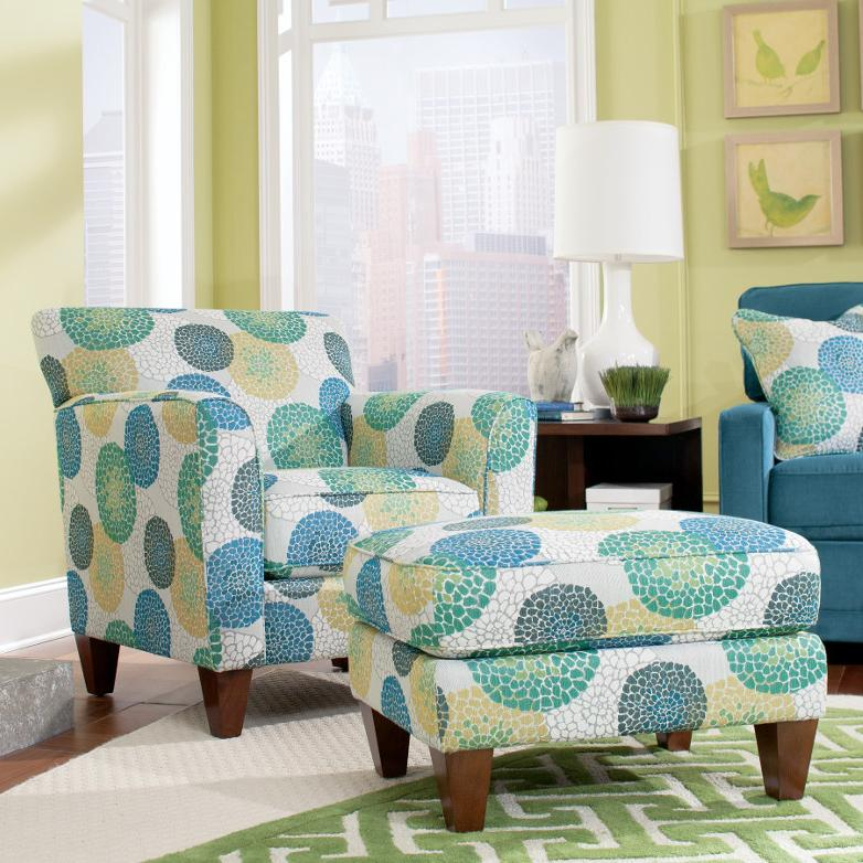 Chairs Allegra Chair & Ottoman by La-Z-Boy at Novello Home Furnishings