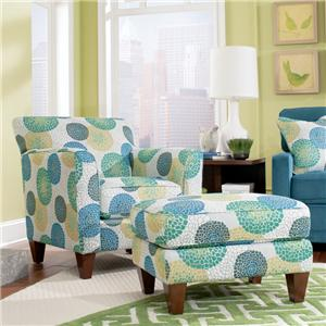Allegra Chair & Ottoman Set