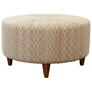 Loop Round Cocktail Ottoman with Topstitch Detailing