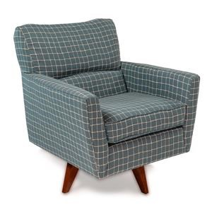 Kearsley Mid-Century Modern High Leg Swivel Chair