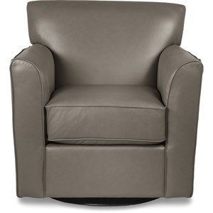 Allegra Swivel Chair with Flared Arms