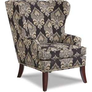 Moscato Wing Chair with Nailhead Trim