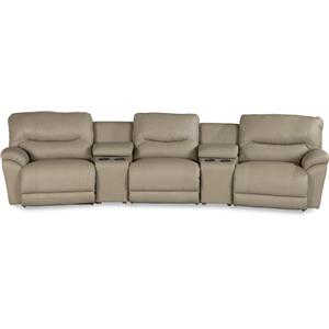 Casual Power Reclining Home Theater Sectional