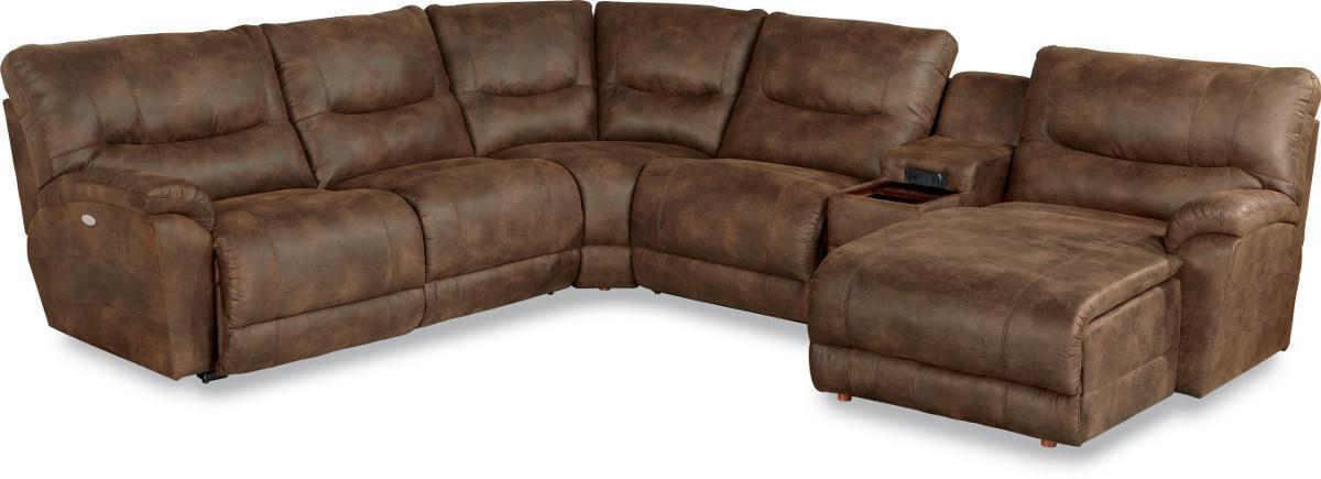 Dawson 6 Pc Reclining Sectional Sofa w/ LAS Chaise by La-Z-Boy at Reid's Furniture