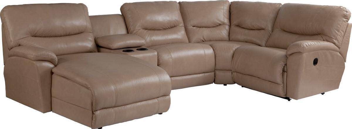 Dawson 5 Pc Reclining Sectional Sofa w/ RAS Chaise by La-Z-Boy at Jordan's Home Furnishings