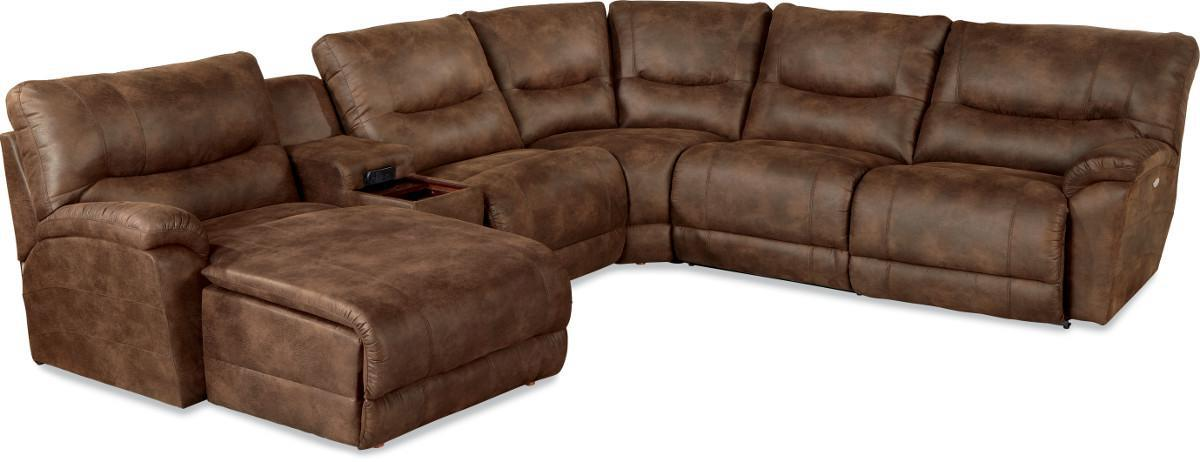 Dawson 6 Pc Power Reclining Sectional w/ LAS Chaise by La-Z-Boy at Reid's Furniture