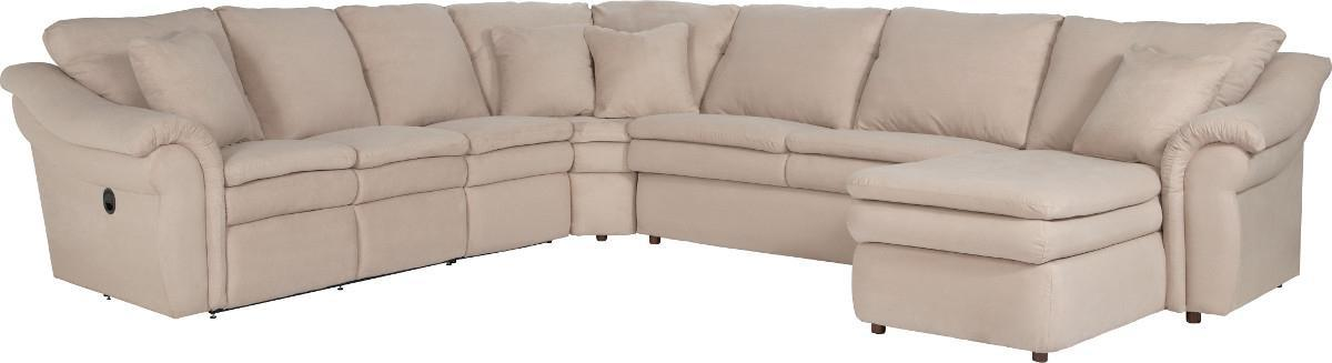 Devon  5 Piece Power Reclining Sectional Sofa by La-Z-Boy at Home Furnishings Direct