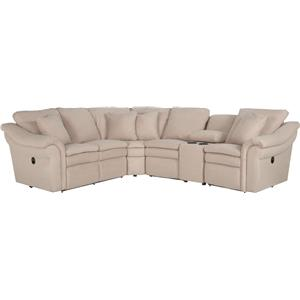 5 Pc Reclining Sectional Sofa with Cupholders and LAS Recliner
