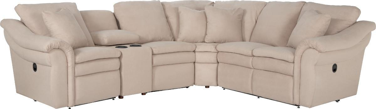 Devon  5 Pc Reclining Sectional Sofa w/ Cupholders by La-Z-Boy at Johnny Janosik