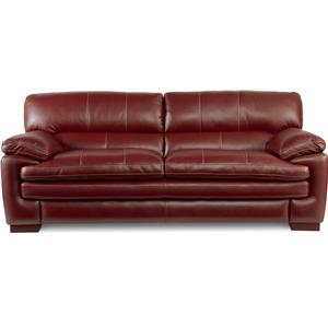Casual Stationary Sofa with Pillow Top Arms and Seat