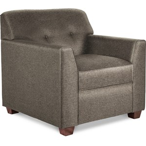 Contemporary Tufted Chair with Premier ComfortCore Cushion