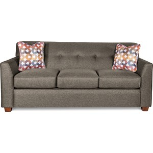 Contemporary Tufted Apartment Sofa with Premier ComfortCore Cushions