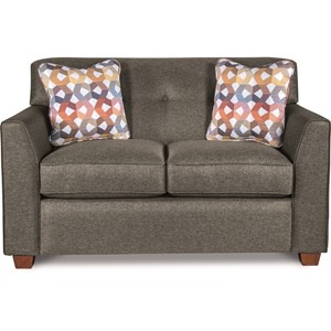 Contemporary Tufted Loveseat with Premier ComfortCore Cushions