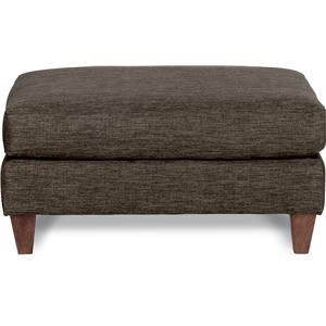 Premier Contemporary Ottoman with Tapered Wood Legs