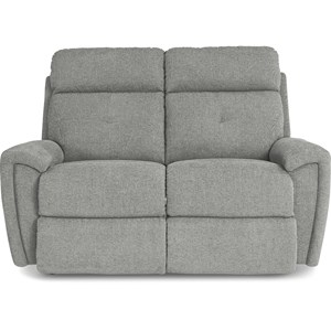 Contemporary Power Reclining Loveseat with USB Charging Ports