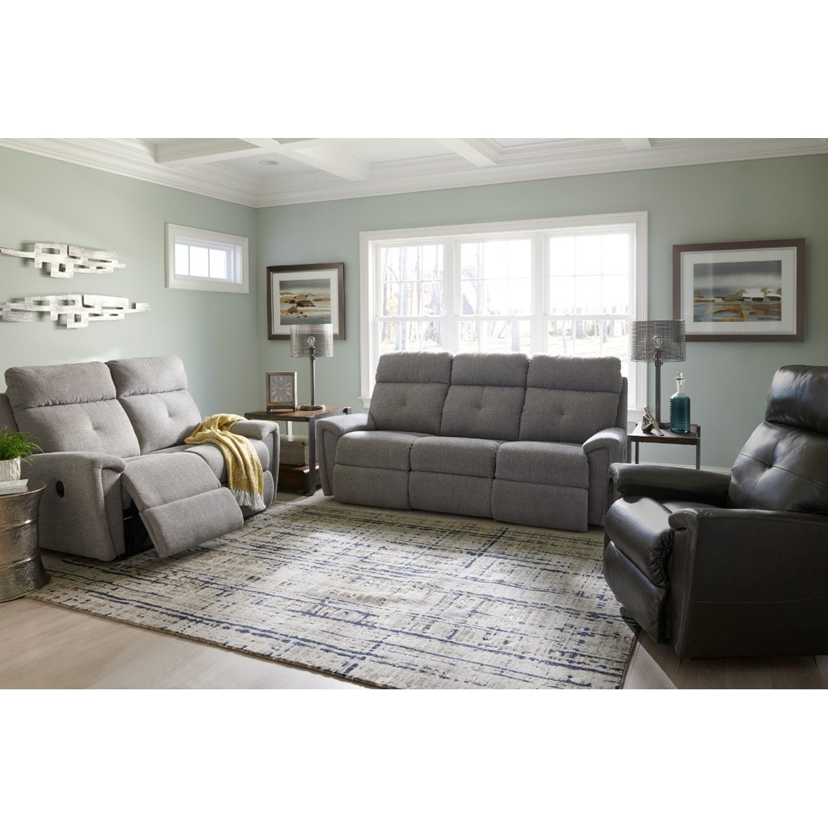 Douglas Power Reclining Living Room Group by La-Z-Boy at Bennett's Furniture and Mattresses