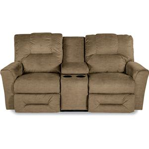 Power La-Z-Time® Full Reclining Loveseat with Storage Console