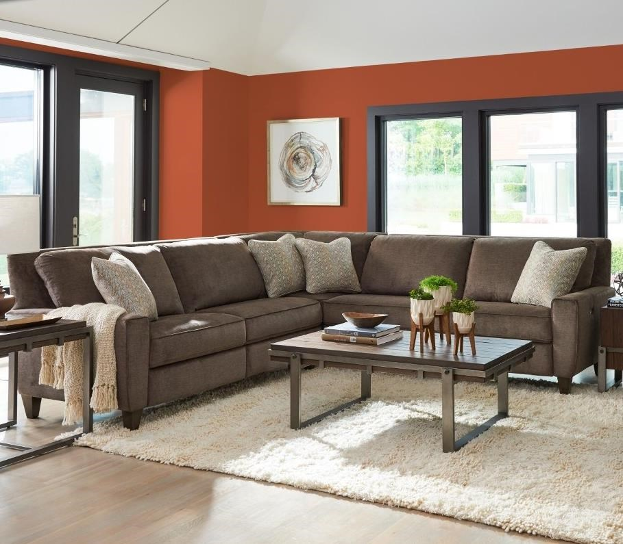 Edie 3 Pc Reclining Sectional Sofa by La-Z-Boy at Godby Home Furnishings