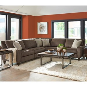 Three Piece Power Reclining Sectional Sofa with Two Reclining Chairs and Two USB Charging Ports