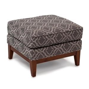 Ottoman with Solid Wood Base