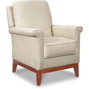 Press Back Recliner with Key Shaped Arms