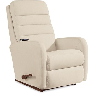 Contemporary 2-Motor Massage & Heat Rocking Recliner
